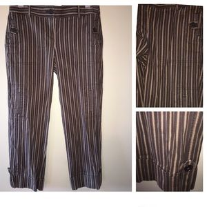 Ann Taylor LOFT Brown Striped Capris Size 2
